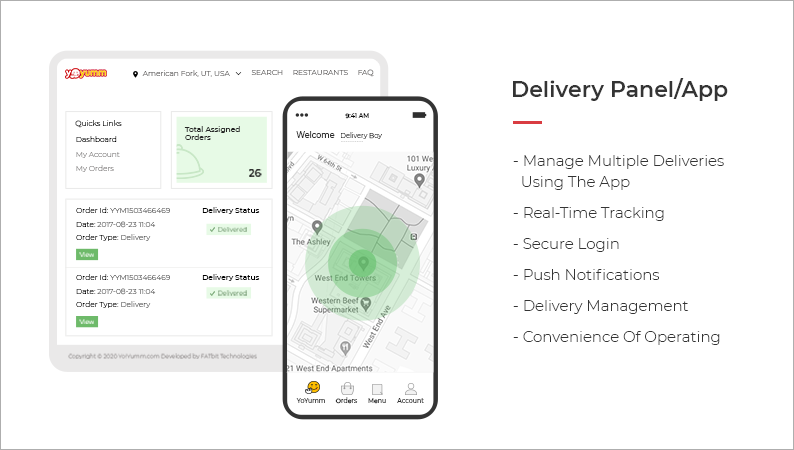 Features- delivery panel