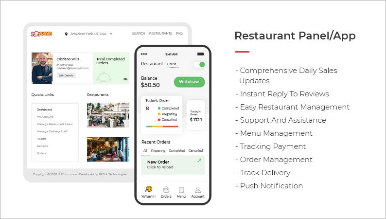 Features- restaurant panel